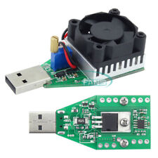 Electronic Load Resistor USB Discharge Battery Tester with Fan 15W 3.7-13V