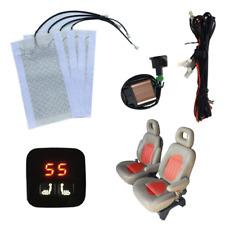 4x 25W Carbon Fiber Car Seat Heater Pad 2-seats Hot Sheet Cover +Digital Control