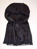 Edler Schal für Herren, Schwarz und Anthrazit, lässige Eleganz mit 100 % Seide