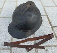 WW1 jugulaire cuir marron ANCIEN pour casque Adrian m15 chin strap helmet 1915
