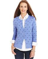 Tunic Cardigan Sweater BLACK New Womens XS S Small Shrug DOT Charter Club M34