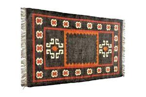 3x5 Feet Braided Floor area rug Wool Jute Kilim Rug Home Decor Rug