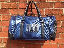 VTG BLUE RARE RETRO 90'S PUMA AIR GYM HOLDALL RUCKSACK MESSENGER WAIST BUM BAG