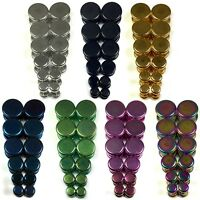 V149 Steel Fake Cheater Illusion Faux Plugs 4G~1/2 Silver Black Gold Blue Green