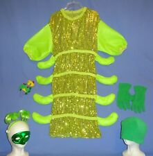 Caterpillar Costume child L 10-12-14;Adult Sm;beanie bug;mask;headband-hat-LOT-6