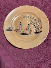 Gold Plate With Bridge Scene - Oriental