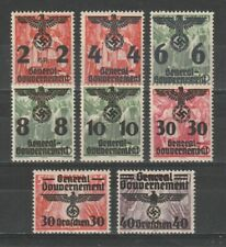 GERMANY REICH 1940 GENERALGOUVERNEMENT OCCUPATION IN POLAND NICE SET MNH **