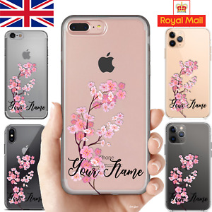 Personalised Your Name Phone Case iPhone 12 11 PRO 7 8 X SE Samsung Huawei Gift