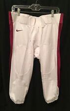 Nwt Nike Men's Football Pants, White & Burgundy/Maroon, Size Xl #615745-104