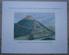 1874 print FORTRESS OF DEVA, HUNEDOARA COUNTY, TRANSYLVANIA, ROMANIA (#31)