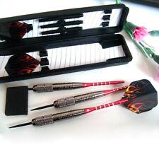 3pcs 26g Pure Copper Tungsten Darts Steel Tip+Flight+Barrel+Box+3 Shafts Red