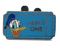 WDW Admission Ticket Admit One Donald 2011 PWP Disney Pin