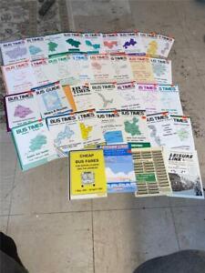 31 BEDFORDSHIRE COUNTY COUNCIL BUS TIMETABLE LEAFLETS & 1 MAP & 3 LFTS