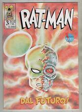RAT - MAN ratman prima serie autoprodotta FOXTROT n. 3 DAL FUTURO !  1 a I  1996