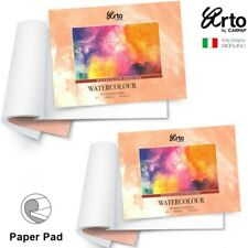 Fabriano WATERCOLOUR PAPER PAD 25% Cotton Hot Pressed 300gsm A4 A3 12pk Art
