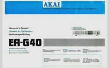 AKAI EA-G40 Stereo Graphic Equalizer Operating Instruction EQ - USER MANUAL