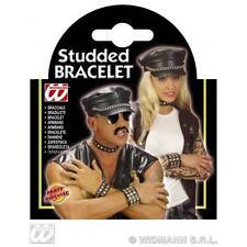 Bracelet cloutées cuir look biker hells angel Halloween accessoire robe fantaisie