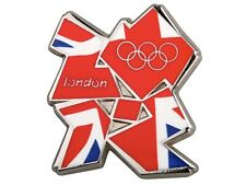 "OFFICIAL LICENSED LONDON 2012 OLYMPIC GAMES ""MEDIUM UNION JACK LOGO"" PIN / BADGE"