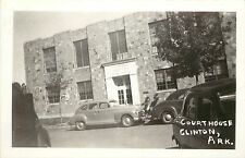Vintage RPPC Real Photo Postcard Van Buren County Courthouse Clinton Arkansas AR