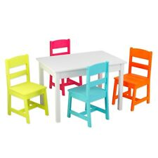 Solid Wood Highlighter Table and 4 Chair Set by KidKraft