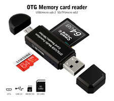 OTG 2.0 Multi Function 4 in 1 USB / SD / Micro SD Memory Card Reader Writer