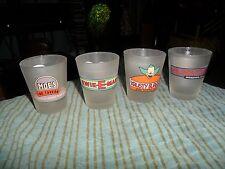 2004 SIMPSONS Shot Glass Lot Of 4 Unique Shot Glasses