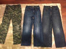 GAP Boys Jeans Cargo Pants Camo Lot Size 10 Loose Fit Jean Camouflage