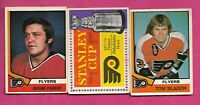 1974-75 OPC FLYERS BLADON RC+  BERNIE PARENT + STANLEY CUP  CARD (INV# C1342)