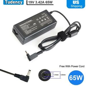 AC Adapter 19V 3.42A 65W Charger for Acer Chromebook C720 C720p C740 P3 P3-131