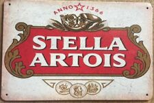 Stella Artois Garage Rustic Look Vintage Tin Signs Man Cave, Shed & Bar Sign