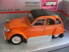 1/18 MINICHAMPS CITROEN 2cv 1976 Orange 150 111504