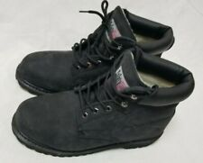 SAFETY GIRL Black Leather Work Boots Women's Size 11 M
