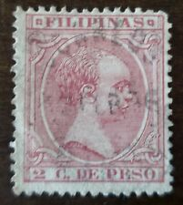 Philippines stamp  #144 Spain Colony  used hinged .Correos POSTMARK