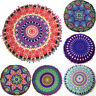 Indian Mandala Floor Pillows Case Round Boho Throw Waist Cushion Cover Pouf Sham