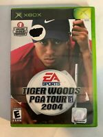 TIGER WOODS PGA TOUR 2004 - XBOX - COMPLETE W/ MANUAL - FREE S/H - (T8)