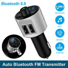 Bluetooth Car FM Transmitter MP3 Hands free Radio Adapter Kit Dual USB Charger