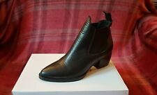 Topshop 'Margot' black leather ankle boots size UK 4, EU 37, US 6