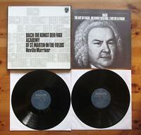 Philips 6747 172 Bach Die Kunst Der Fuge Neville Marriner 2xLP NEAR MINT Box Set