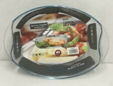 3.8 Litre Oval Glass Casserole Dish & Lid Glass Roasting Dish With Handles