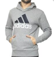 Adidas Ess Hoodie Men's Grey Sweatshirt