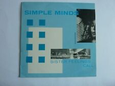 SIMPLE MINDS SISTER FEELINGS CALL VINYL LP IN EXCELLENT CONDITION OVED 2
