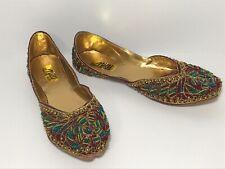 Milli Chappal Lahore Jutti Women's Flats Size 8 Majari Indian Wedding Shoe