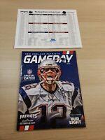 New England Patriots 10/22/17 Gameday Program Brady Cover Alan Branch Autograph