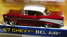 JADA 57 1957 CHEVY BEL AIR CUSTOM STYLE COLLECTIBLE CHEVROLET CAR CNDY APPLE RED
