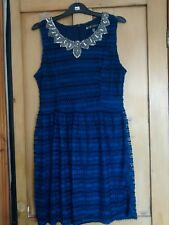 'MELA LONDON'  BLUE AND BLACK PARTY DRESS 16