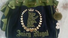 Authentic Juicy Couture Daydreamer Navy Green Scotty Dog Safety Pin Pompom charm