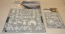 New Sealed lot 2 Fiskars ShapeBoss Stencils French Country Mini Baby 5641 5624