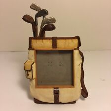 Russ Berrie 3D Resin Golf Photo Picture Frame Clubs Bag
