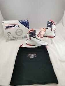 Stand21 Martini Porsche Racing Boots White Size 6.5 UK FIA 8856-2000 Homologated
