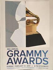 2017 Grammy Awards Annual Program 59Th Year Music Memorabilia Aretha Franklin
